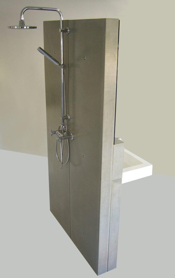 betonnen vrijstaande douche