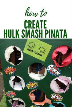 pinata, alternative pinata, how to, guide,  How to create an alternative to the pinata. #superheros #hulk #hulksmash #pinata #birthdayparty #ideas #printable #wisenona