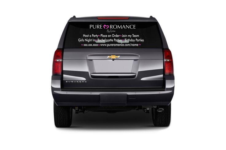 Custom Window Decal, Custom Car Decal, Pure Romance, Vehicle Decal, Pure Romance Car Decal, Pure Romance Vinyl Car Window Decal, PR1000 by KreativelyKustom on Etsy