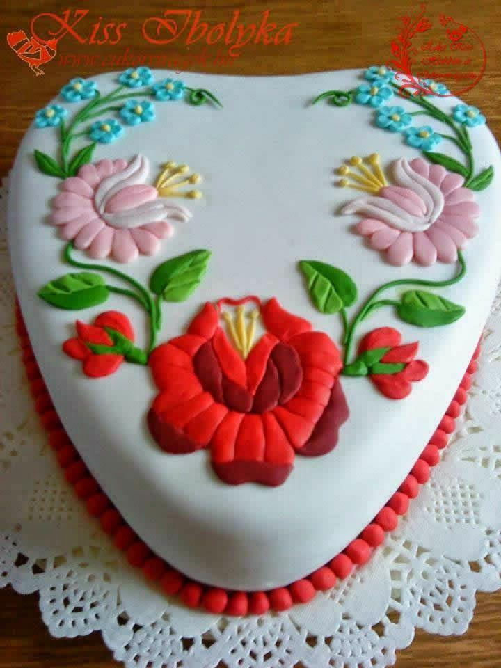 torta, torták, cukorvirág, tanfolyam, cukorvirág tanfolyam, tortadíszítés, fondant, kalocsai, kalocsai torta, orchidea, pillangó,  rózsa,