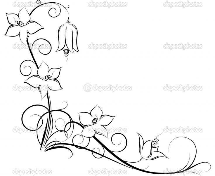 swirly designs | Original floral corner. | Stock Vector © Anton Shpak #1092366