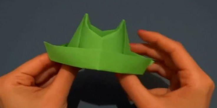 Image 1 de Origami : faire un chapeau de cowboy