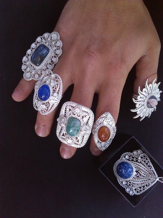 rings & unique pendant