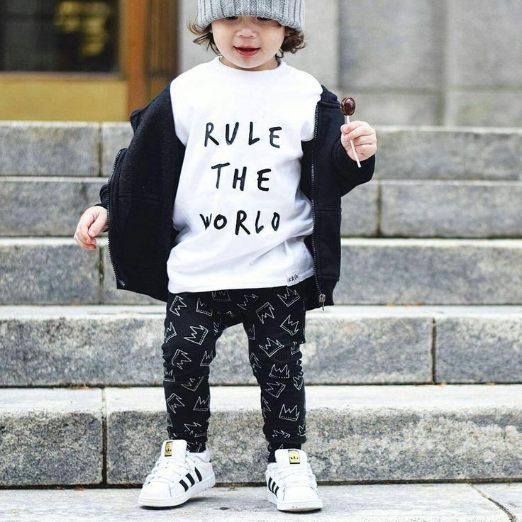 Rule The World T-Shirt | Who's really in charge? I think we all know the answer to that question! For the little boss or mini-monarch in your life, this fun and funky t-shirt will make the perfect item. It's 100% pure cotton, it's unisex and it comes in a choice of black, white, grey or navy, plus its minimal statement design will turn heads and make people sit up and take notice | www.kidultand.co