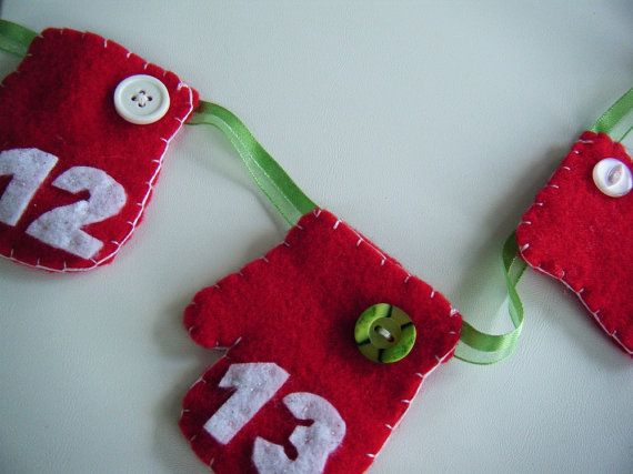 Great way to start a family tradition! Advent garland/banner. @lizziboo shop $25.95
