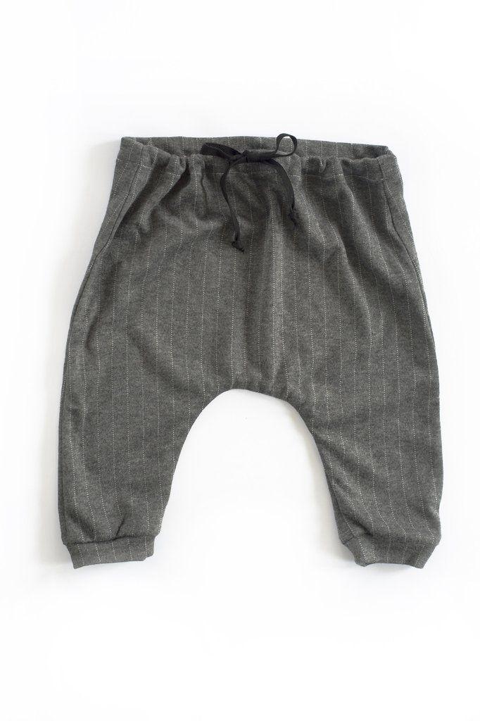 Zion Trouser in Elephant Pinstripe