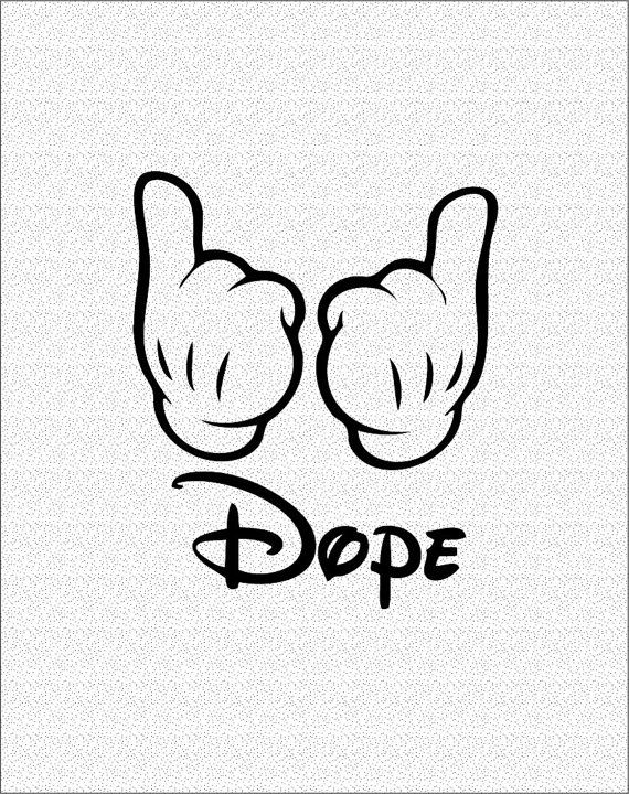 | Dope Mickey Mouse Hands |