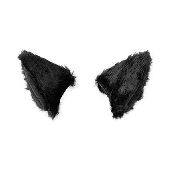BAOBAO Cat Fox Long Fur Ears Hair Clip Anime Neko Cosplay Halloween... ($56) ❤ liked on Polyvore featuring costumes, role play costumes, cosplay halloween costumes, fox halloween costume, cat halloween costumes and fur costume