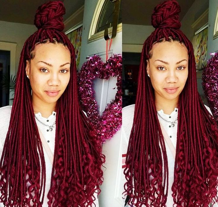 Pretty faux locs @exotic_brii - https://blackhairinformation.com/hairstyle-gallery/pretty-faux-locs-exotic_brii/