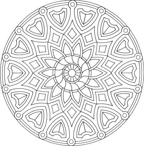 Mandala à colorier : Mandala Rond 6 - Mandala gratuit à télécharger, à imprimer et à colorier