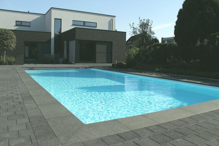 17 best images about zwembad projecten on pinterest solar we and jacuzzi - Witte pool liner ...
