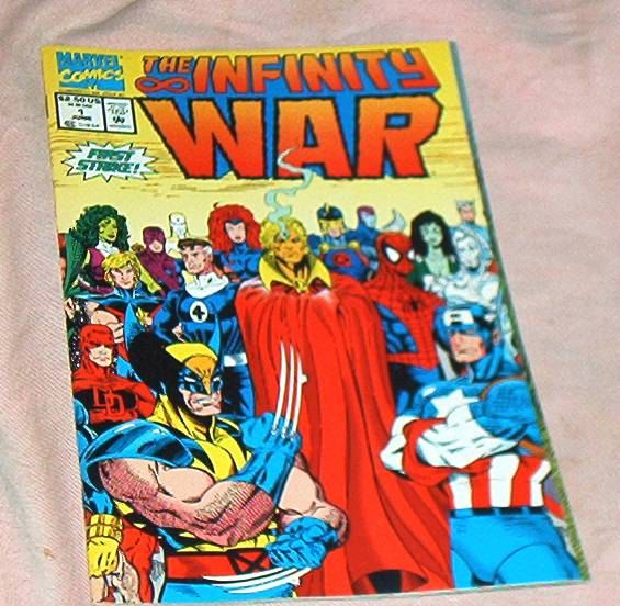 The INFINITY WAR #1, June, '92, All-Star Issue and Cover, w/Thanos app., Starlin/Lim/Milgrom, Marvel Comics, Very Fine by brotoys1 on Etsy