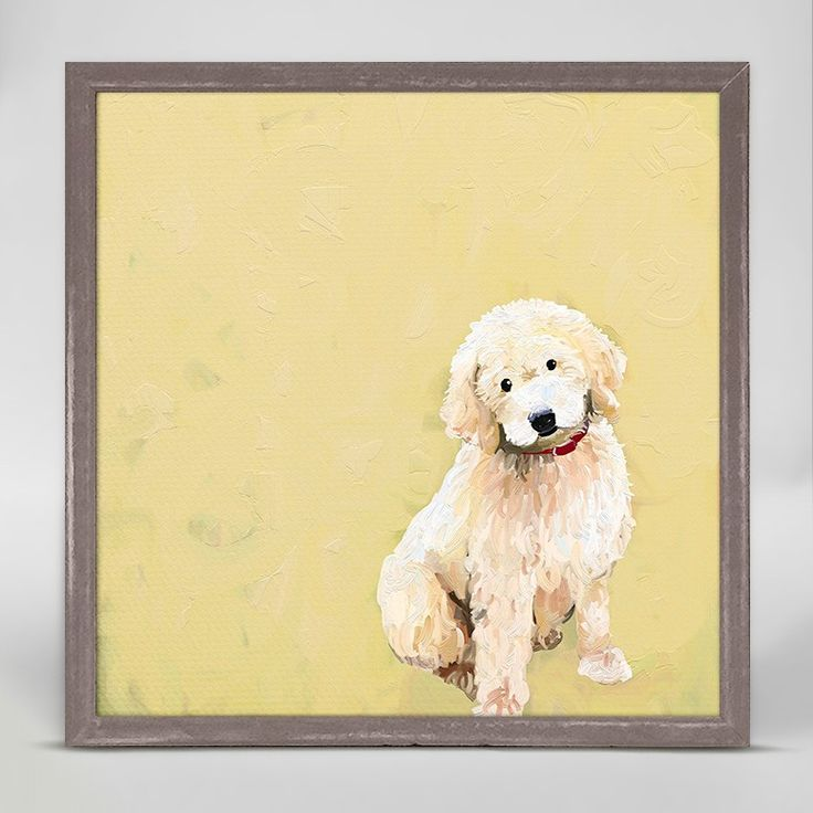 """Best Friend - Golden Doodle"" Mini Framed Canvas from Oopsy Daisy, Fine Art for Kids. Size - 6''x6''. Price - $29.98. Browse our entire collection of Mini Framed Canvases!"