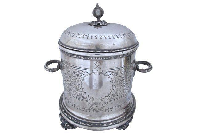 English Silverplate Victorian Ice Bucket