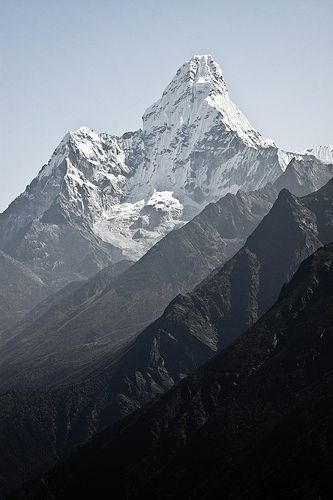 """""""Ama Dablam""""   Ama Dablam mountain in Nepal Himalayas   Photography by Denis Messié   7 October 2012"""