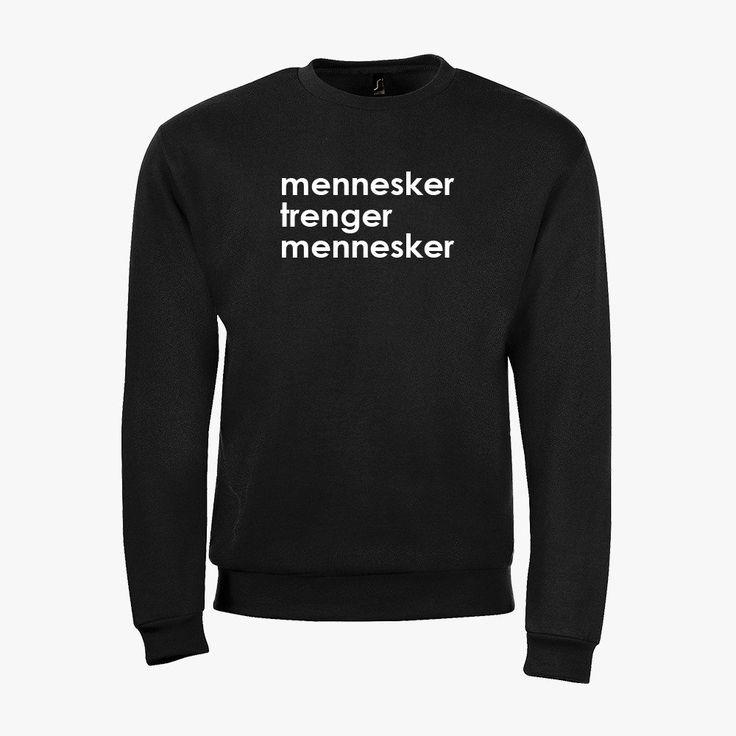 mennesker trenger mennesker sweatshirt ♂♀