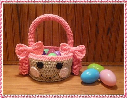 Free Crochet Easter Basket Patterns | FREE: Crochet Lalaloopsy Easter Basket PDF PATTERN