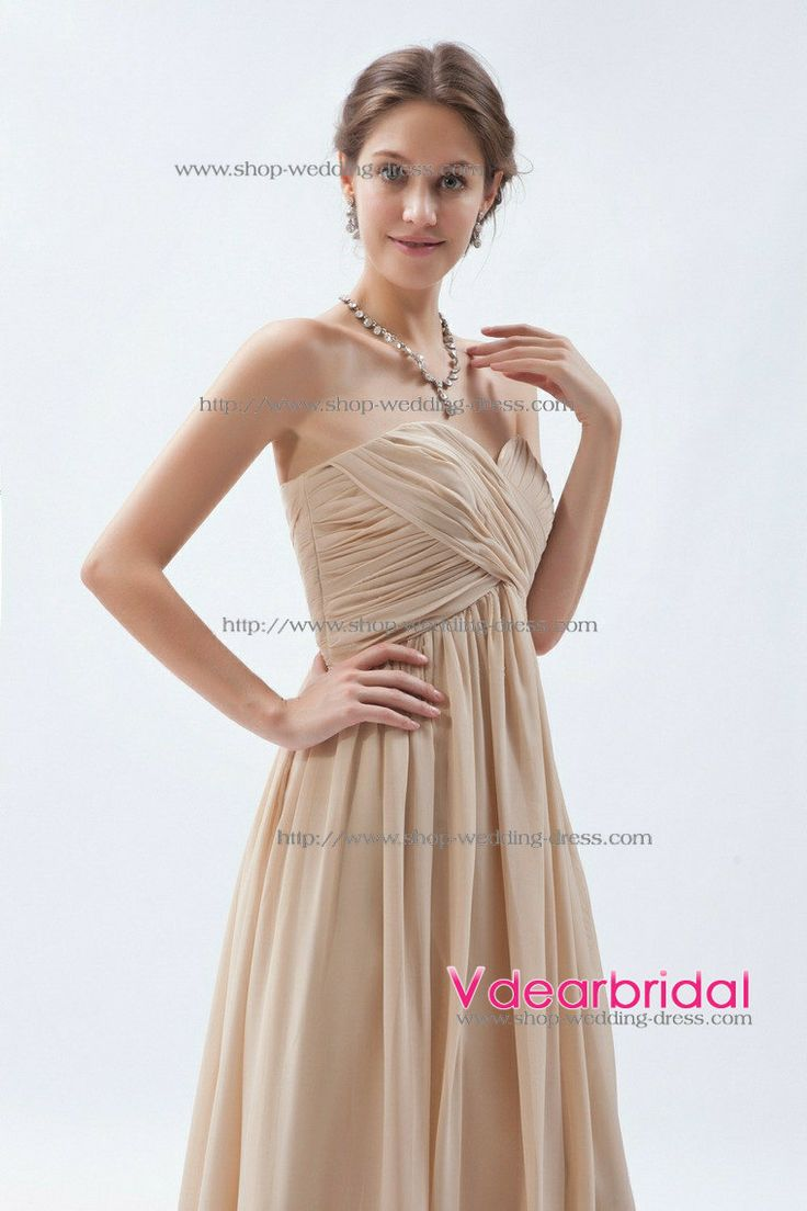 41 best brown bridesmaid dresses images on pinterest wedding elegant sweetheart empire waist pleated floor length chiffon champagne bridesmaid dresses zgd1752 ombrellifo Choice Image