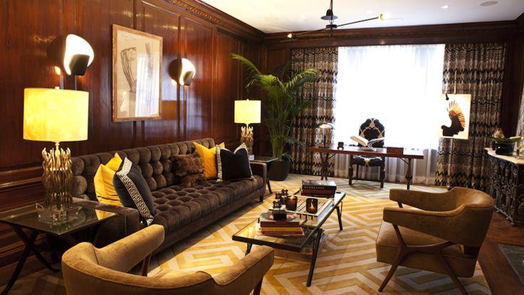 a2fb4f13e174e380c0aeb70c8eca7007--yellow-leather-yellow-pillows Paneled Wood Interior Home Design on wood paneling, wood walls designs inside house, wood panelled interiors,