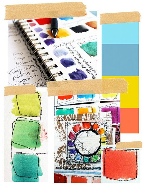 colour exploration by alisa burke ------ Could use parts of this for own colour page