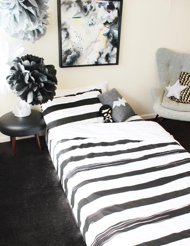 Stripe Duvet King Single