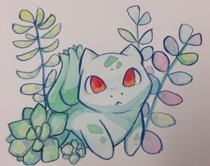 "unpopularartblog: "" Weird dog with plants; watercolor """