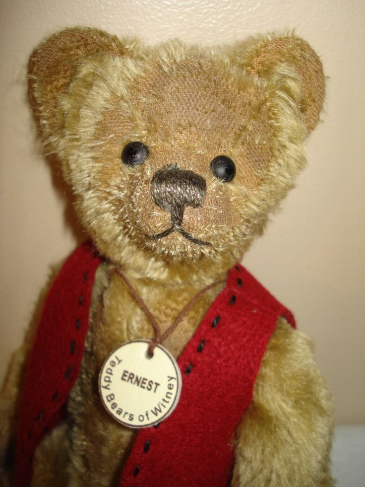 Ernest is a limited edition bear from Teddy Bears of Witney