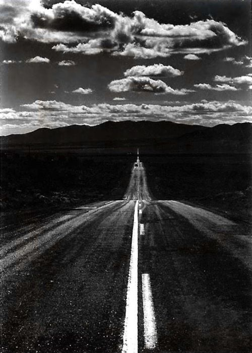 Ansel Adams  Road, Nevada Desert, 1960