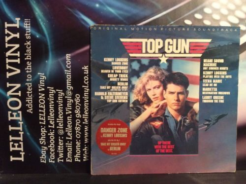 Top Gun Soundtrack LP Album Vinyl Record CBS70296 Film Movie 80's Tom Cruise Music:Records:Albums/ LPs:Soundtracks/ Themes:Film