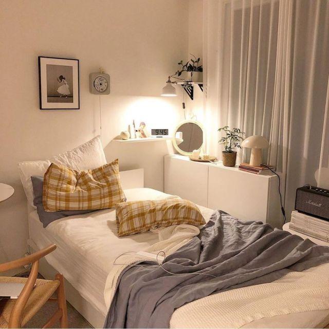 Nine Bedroom Time Spent At Home To Live Alone Uses Instagram Room Design Bedroom Aesthetic Bedroom Room Inspiration Bedroom Korean style minimalist aesthetic room