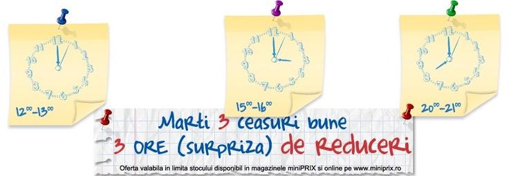 Vă aşteptăm astăzi cu 3 ore de reduceri surpriză la miniPrix Otopeni!