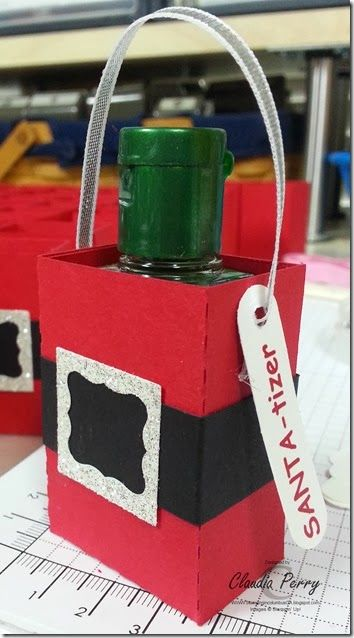 santatizer, My Digital Studio, Stampin' Up!, Template to make box!