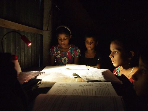 BELL solar lamp - Homework in Bangladesh