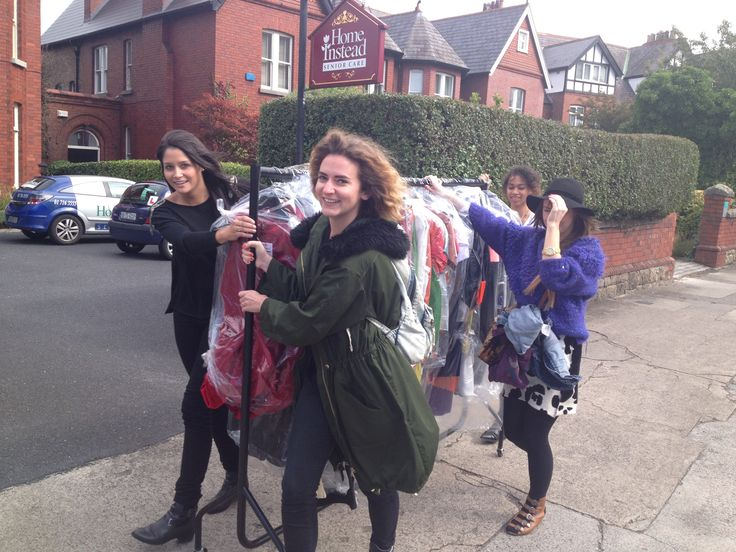 Leaving studio with our collection. The best mode of transport!