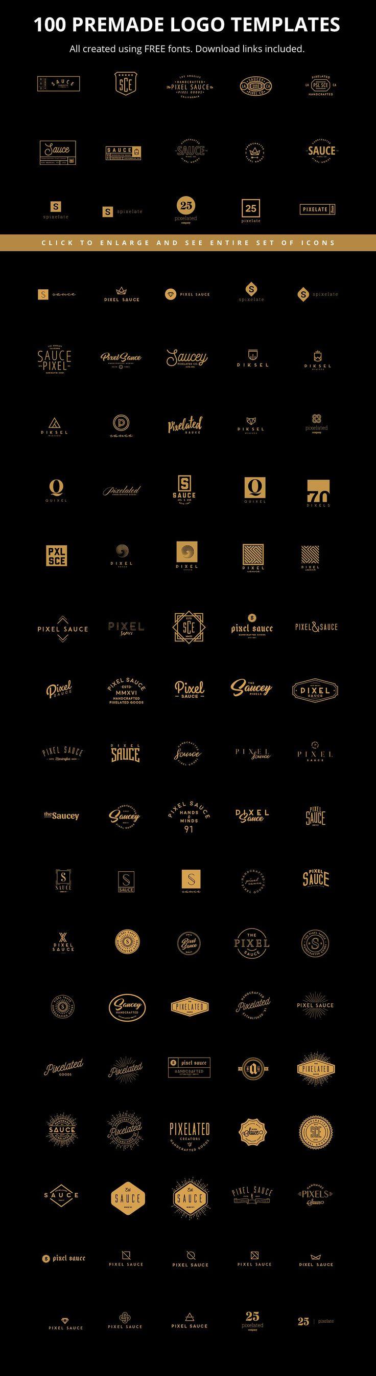 Massive Logo Creator Kit Bundle by Pixel Sauce on @creativemarket