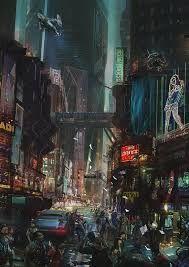 Résultats de recherche d'images pour «cyberpunk industrial city»