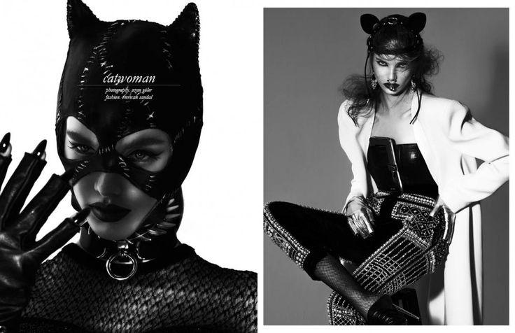 FLEET ILYA HEADBAND IN CAT WOMAN EDITORIAL OF SCHON! MAGAZINE. Photography by Ozan Guller, styled by  Emrecan Sandal