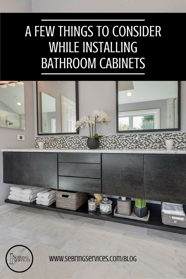 Photo Image A Few Things to Consider While Installing Bathroom Cabinets