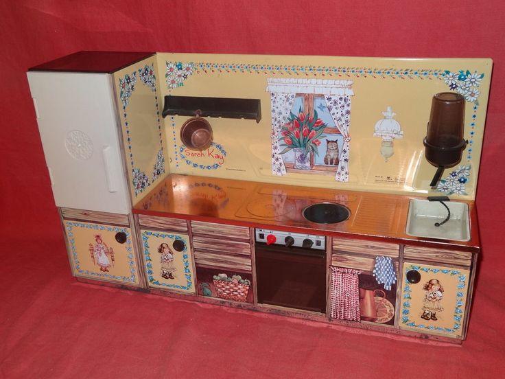 Bien connu jouet ancien cuisine en tole SARAH KAY jeu old toy dinette poupee  JP41