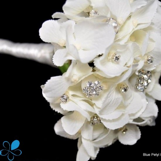 Bridesmaid bouquet, except in blush pink Hydrangea Bling Bouquet