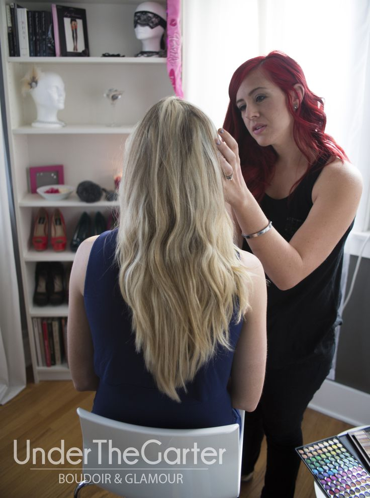 Our #makeup artist, Ally of Skin Nouveaux, prepares Miss E for her #boudoir shoot. #Denver #wedding