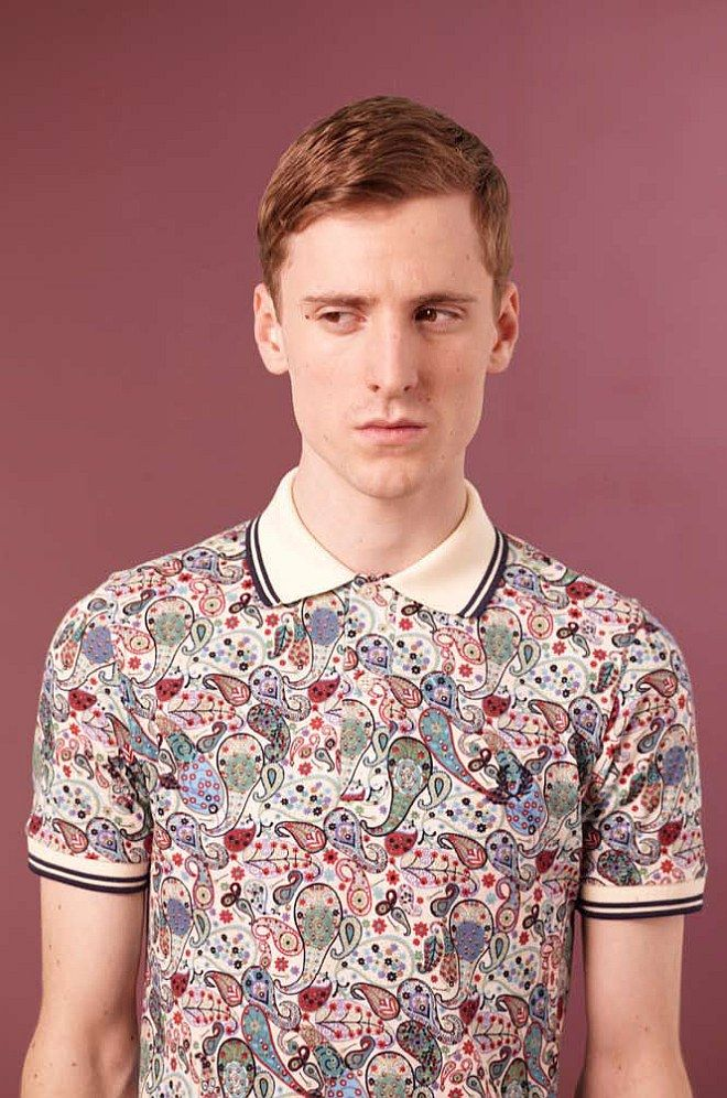 Finding ways to make paisley for men even less manly.  FRED PERRY