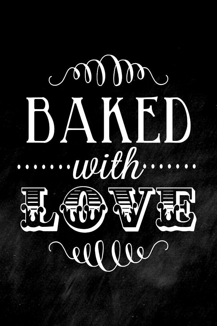 chalkboard art quote tonik e me y lilluna   baked with