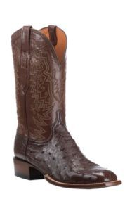 Lucchese Men's Sienna with Antique Brown Full Quill Exotic Square Toe Boots | Cavender's