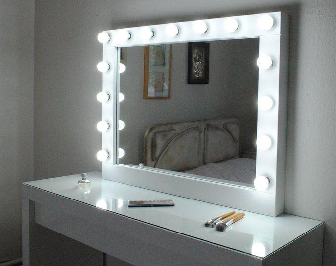 Xl Hollywood Vanity Mirror 43 X 27 Makeup Mirror Etsy