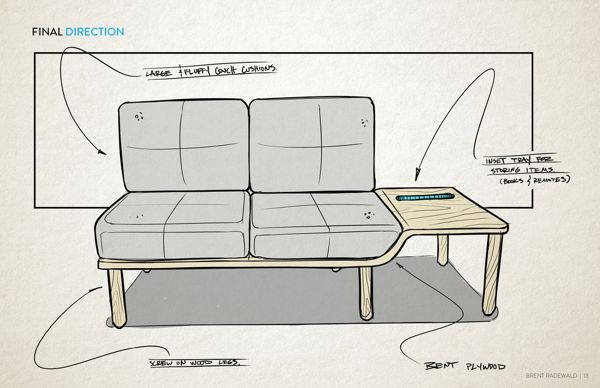 Novo   Minimalist Sofa by Brent Radewald, via Behance