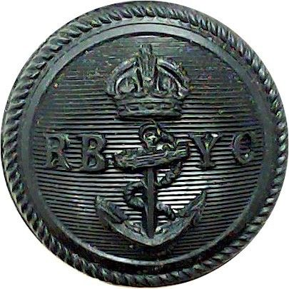 Royal Bermuda Yacht Club 23mm – Black with King's Crown. Plastic Yacht or Boat Club jacket button