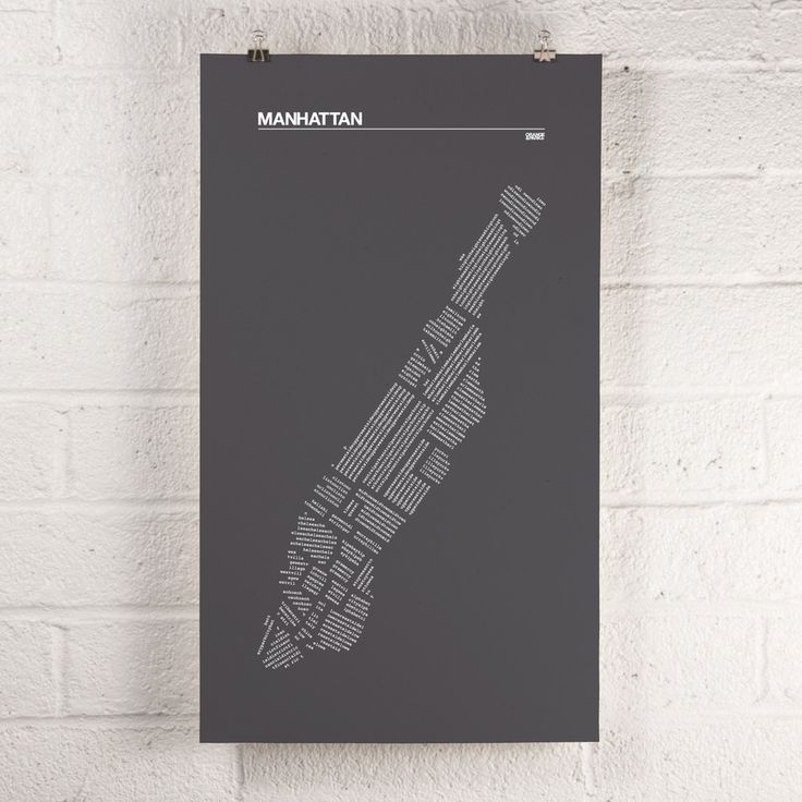 Manhattan Districts print 16 best MAPS images