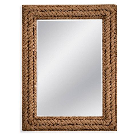 "37""x49"" Jute Rope Mirror, Natural $349.00"