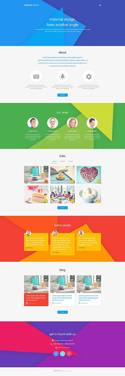 Material Design Portfolio #WordPress Theme #materialdesign #webdesigntrend2015